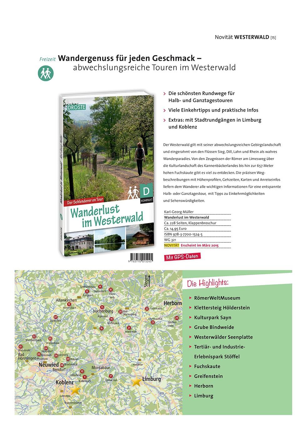 Wanderlust im Westerwald (Droste Verlag)