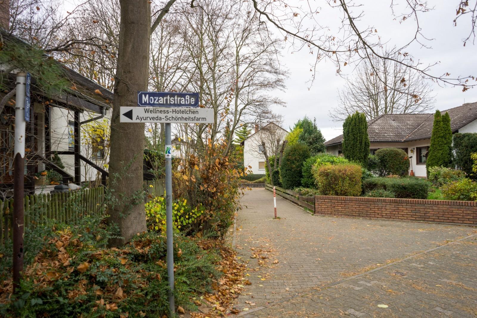 In der Mozartstraße in Nierstein