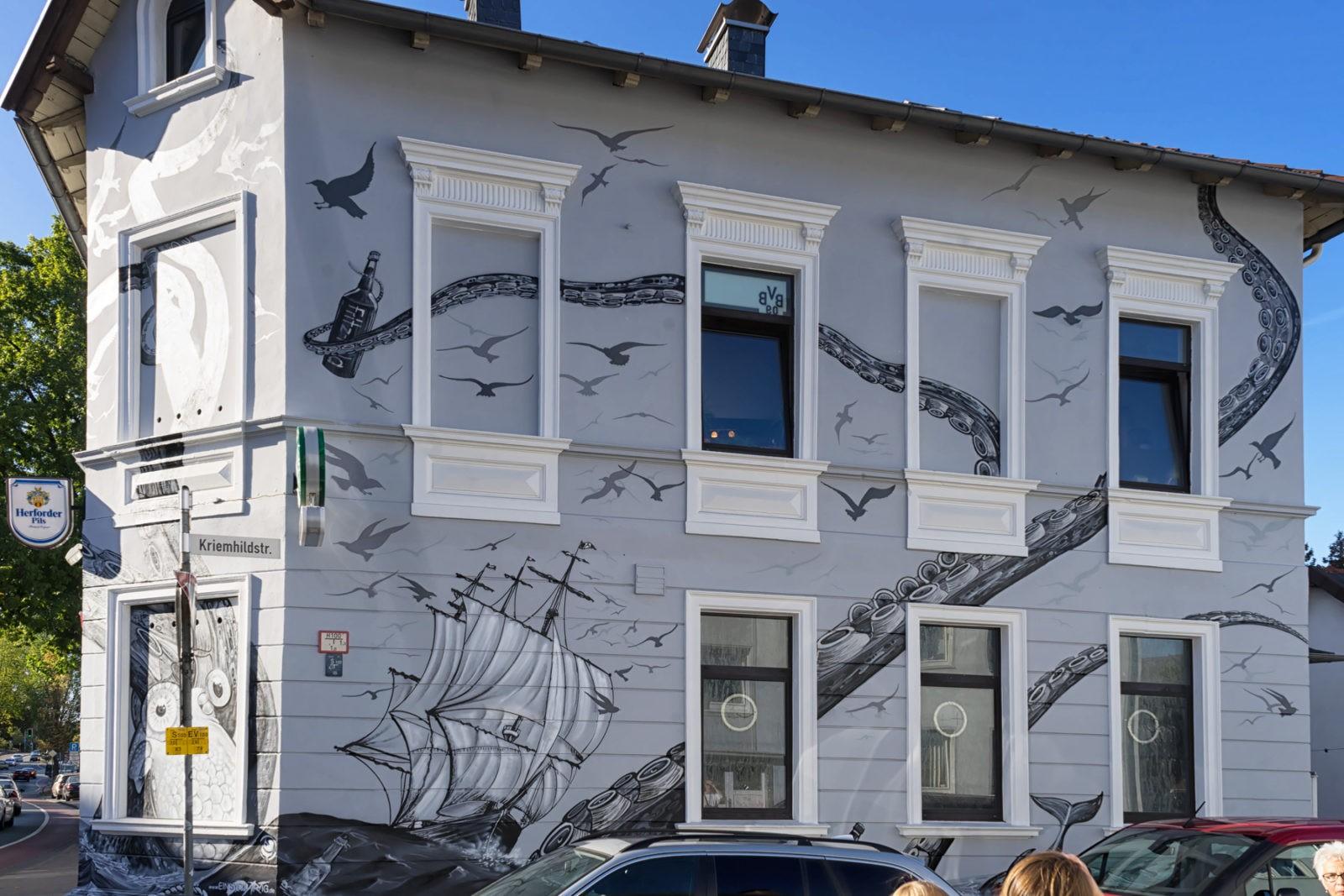 Graffito in Bielefeld