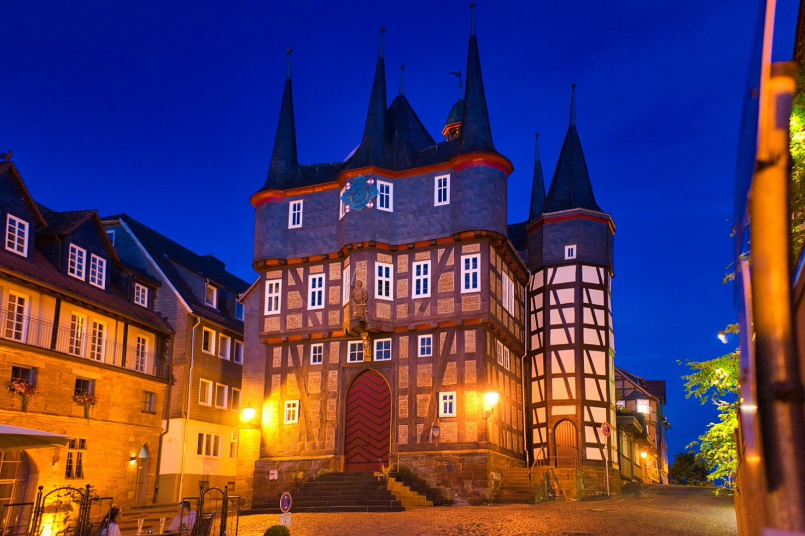 Zehntürmiges Rathaus Frankenberg